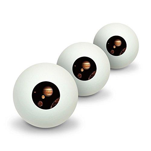 地球の木星Io Europa GanymedeとCallisto Moons Space ノベルティ卓球ピンポンボール3パック