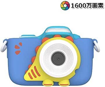 【Oaxis】【2019】【超高解像度】myFirstCamera III 子供用 トイカメラ 【全二色】2インチIPS画面 オートフォーカス/顔認識/LEDフラッシュ内蔵/2つカメラ/タイムラプス/デコレーション/連続撮影/動画撮影 ミニカメラ キッズカメラ (青)
