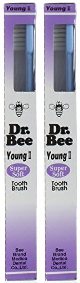 魅了するプレートアルプスビーブランド Dr.Bee 歯ブラシ ヤングII スーパーソフト【2本セット】