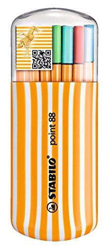 スタビロ 水性ペン ポイント88 ゼブラ 20色セット 8820-02