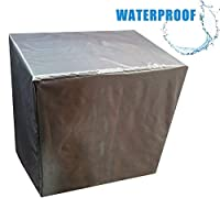 WEIMEI 庭の家具ガーデンカバー ファニチャーカバー テーブル 椅子カバー 屋外 カバー テー ダストカバーカバー屋外プロテクトパティオの家具の防水日焼け止め防風アンチUV、24サイズ (Color : Gray, Size : 200X140X90cm)