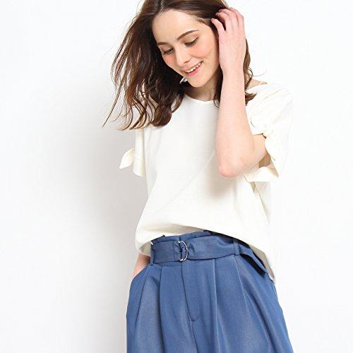 (クチュールブローチ) Couture Brooch スリーブリボンカットソー 50812572 38(M) ホワイト系(002)