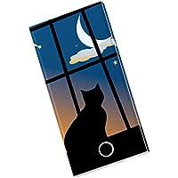 モバイルバッテリー iPhone6s iPhone6 Plus スマホ 充電器 モバブ スマートフォン 大容量 モバイル ブースター 携帯充電器 充電 8000mAh Panasonic製セル電池使用 Xperia Galaxy AQUOS iPad iQOS アニマル 猫 三日月 001048