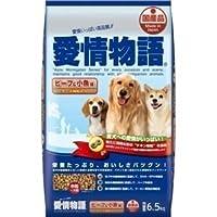 イースター 愛情物語ドライ ビーフ&小魚味 6.5Kg 【ペット用品】 〈簡易梱包