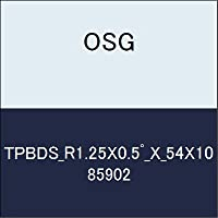 OSG テーパエンドミル TPBDS_R1.25X0.5゚_X_54X10 商品番号 85902