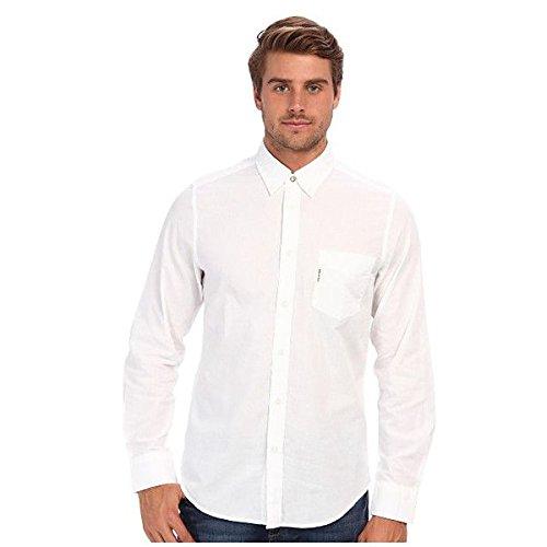 (ベンシャーマン) Ben Sherman メンズ トップス 長袖シャツ Summer Oxford Chambray L/S Shirt 並行輸入品