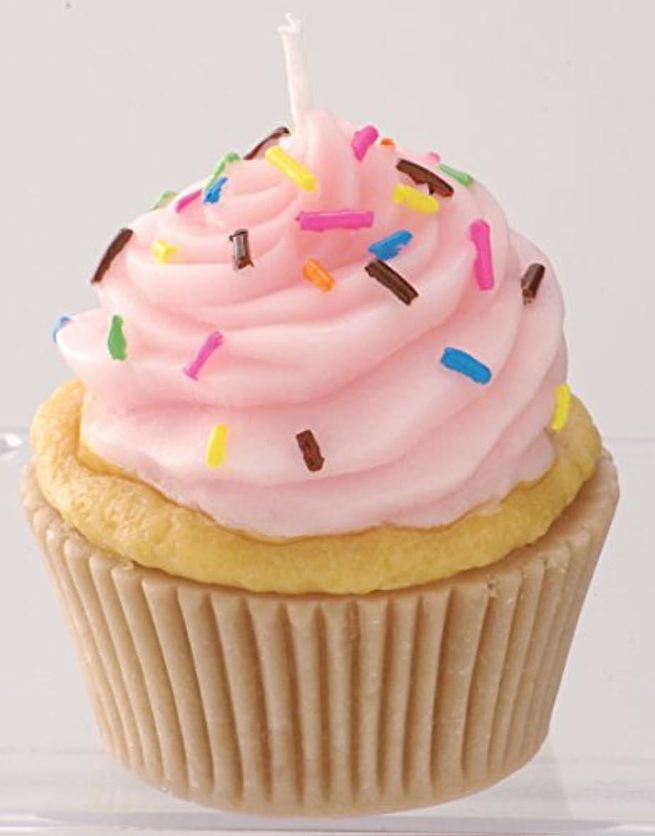 カメヤマキャンドルハウス 本物そっくり! アメリカンカップケーキキャンドル ストロベリークリーム ストロベリーの香り