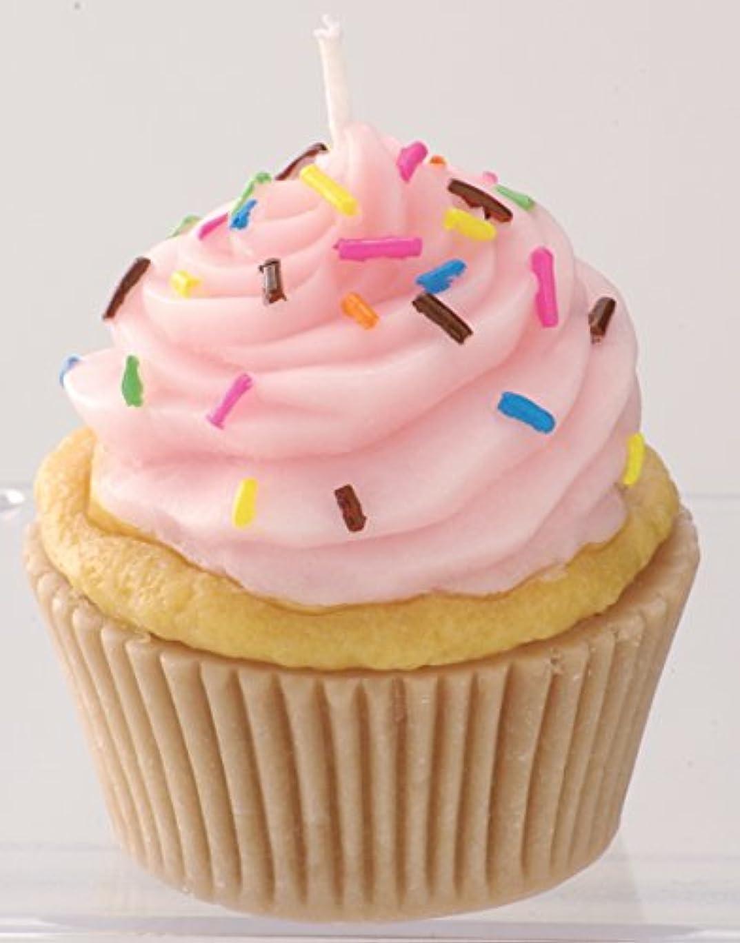 目の前の好色な復活するカメヤマキャンドルハウス 本物そっくり! アメリカンカップケーキキャンドル ストロベリークリーム ストロベリーの香り