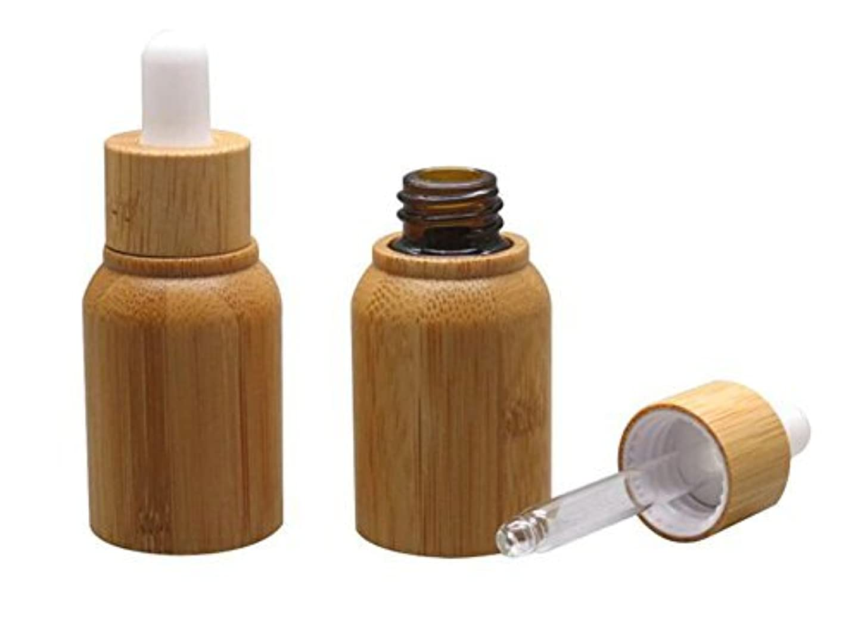 髄接続された粒1PCS 10ML 10G Bamboo Glass Eye Dropper Bottle with Pipettes Cosmetic Sample Container Bottles for Essential Oil...
