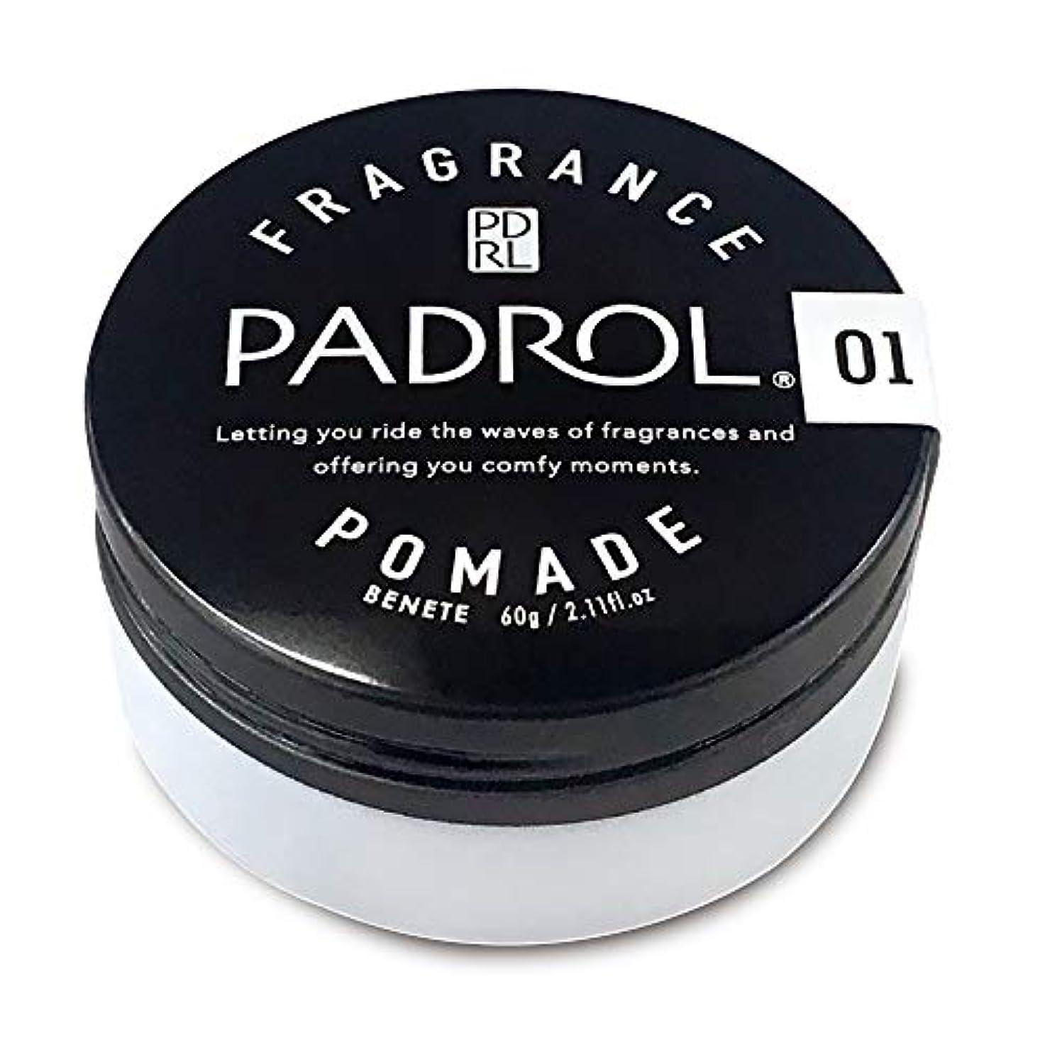 潜在的な魂代わりにを立てるノルコーポレーション ポマード パドロール 日本製 PAD-10-01 ホワイトムスクの香り 60g