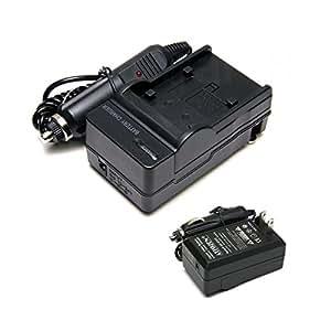 ウェブマートエイト キヤノン CANON BP-809/BP-819/BP-827対応充電器 TRAVEL チャージャー 家&車両用