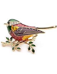 HKUN ブローチ レディース メンズ 子供用 かわいい 鳥のブローチピン ジュエリー デザイン 文芸 魅力 美しい