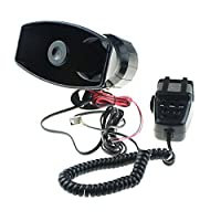 GAMPRO Car Siren Speaker12V 80W 7 Tone Sound Car Siren Vehicle Horn With Mic PA Speaker System Emergency Sound Amplifier [並行輸入品]
