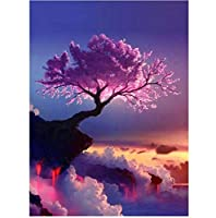 5d diyダイヤモンド絵画美しい桜ステッチ刺繍ダイヤモンド刺繍動物刺繍ダイヤモンド家の装飾40×60センチ