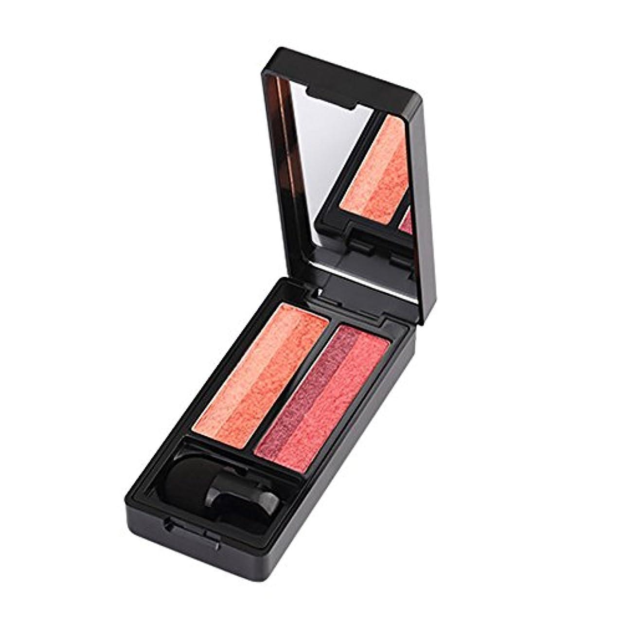ホールドオール優越インフルエンザAkane アイシャドウパレット UBUB 人気 ファッション 綺麗 高級 グラデーション つや消し 完璧な マット 持ち便利 Eye Shadow (2色)