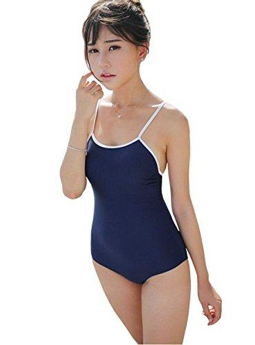 NSD スク水 新型 スクール水着 コスプレ コスチューム (紺)