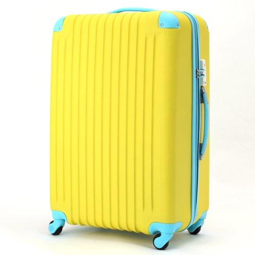 (トラベルデパート) 超軽量スーツケース TSAロック付 (Lサイズ(86L), イエロー)