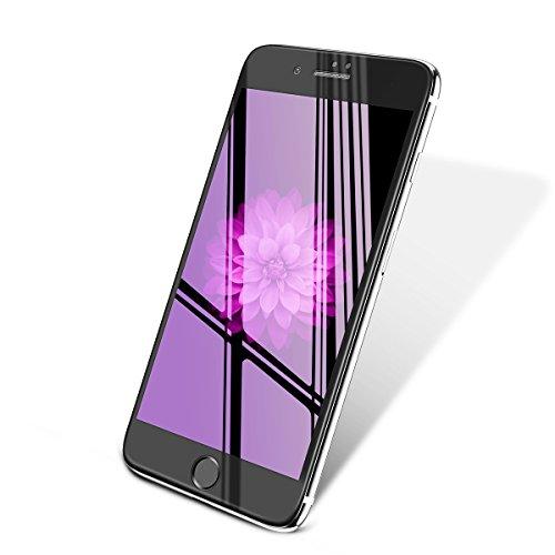 【2枚セット】Aokeou iphone8 / iphone7 炭素強化フィルム 視力保護ガラス ブルーライトカット 硬度9H 耐衝...