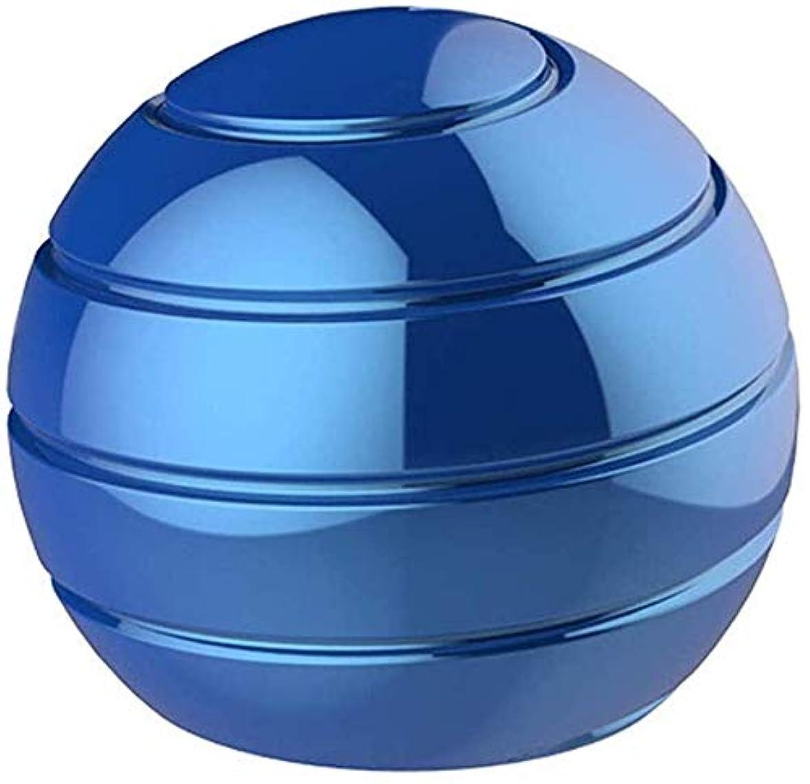 天気インタネットを見る直立赤ちゃん幼児玩具スピニングトップス完全に逆アセンブル回転テーブルボール指先ジャイロ解凍玩具 (Blue)