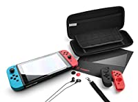 Snakebyte snakebyte NSW Starter Kit Pro for Use with Nintendo Switch Accessory Pack 9-in-1 Including Screen Glass Protector/Headphones - Nintendo Switch; [並行輸入品]