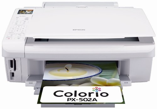 EPSON Colorio インクジェット複合機 PX-502A 有線・無線LAN標準搭載 普通紙くっきり 4色顔料インク