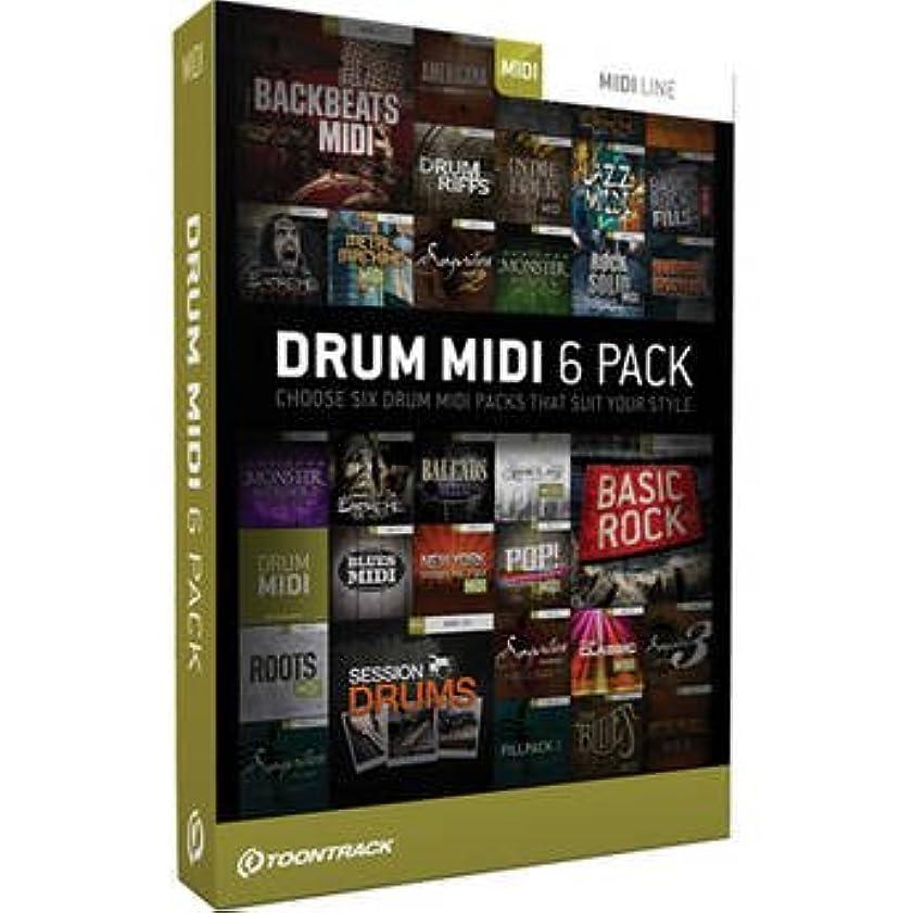 部分的に邪悪な反対するDRUM MIDI 6 PACK