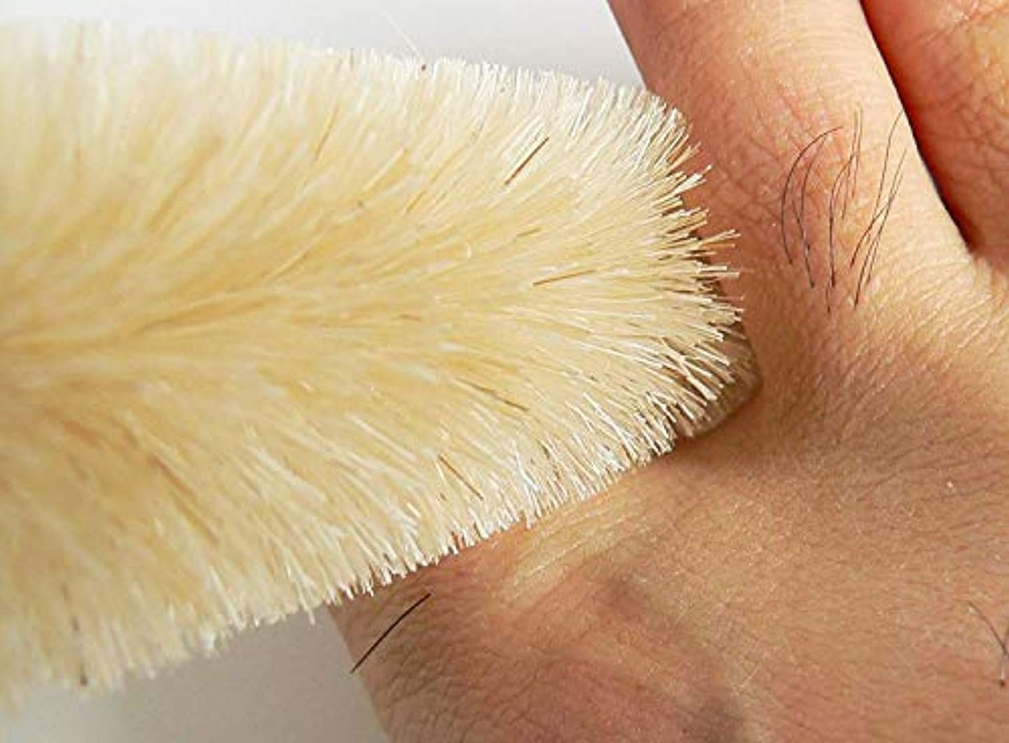レッスンチキンカップ指の間がキレイに洗える、指間専用ブラシ 白馬毛?普通 4本セット 通称フィンガーブラシ ※水虫防止、介護などに 浅草まーぶる