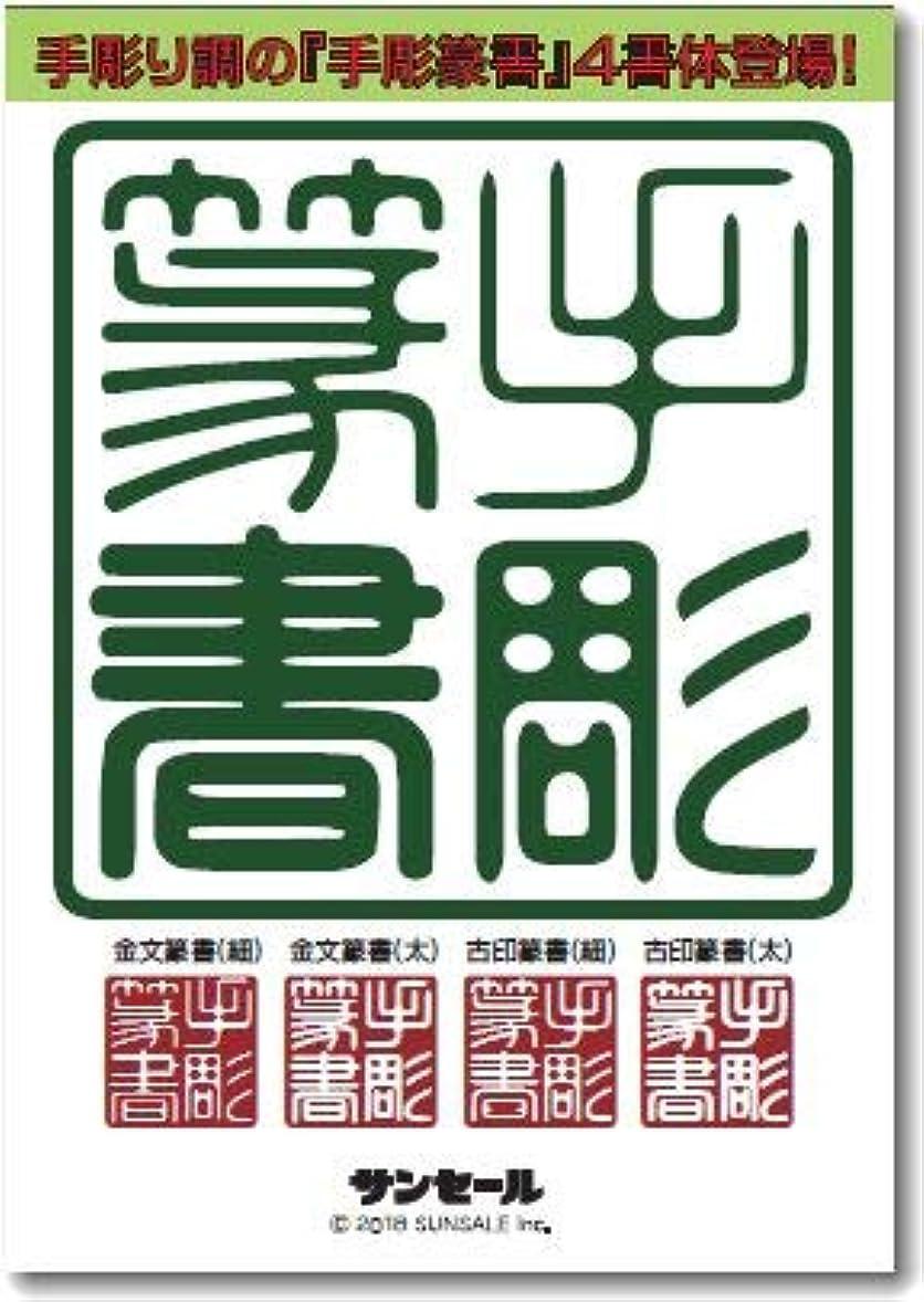失業手配する回る手彫篆書(金文篆書?古印篆書)シリーズ(4書体) TrueType Hybrid | PC/Mac