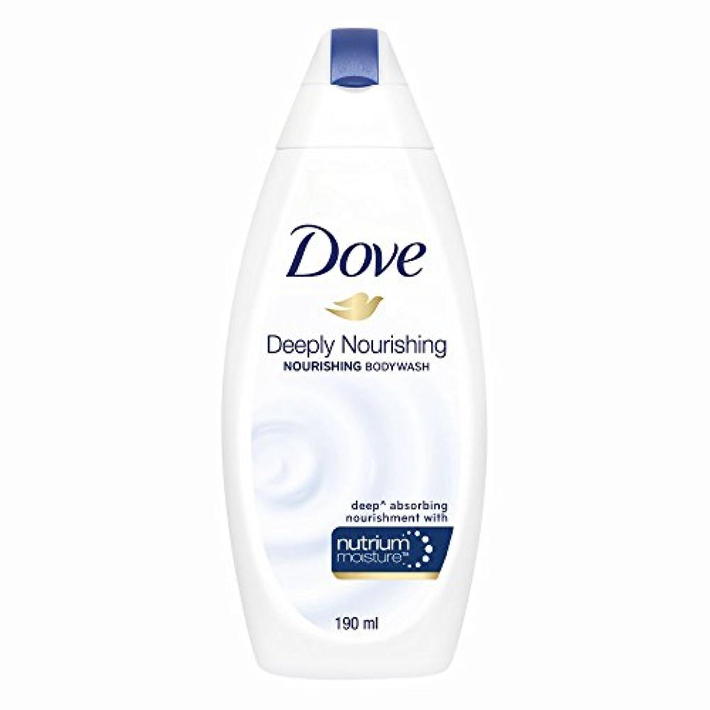 ブラウン今後柔和Dove Deeply Nourishing Body Wash, 190ml