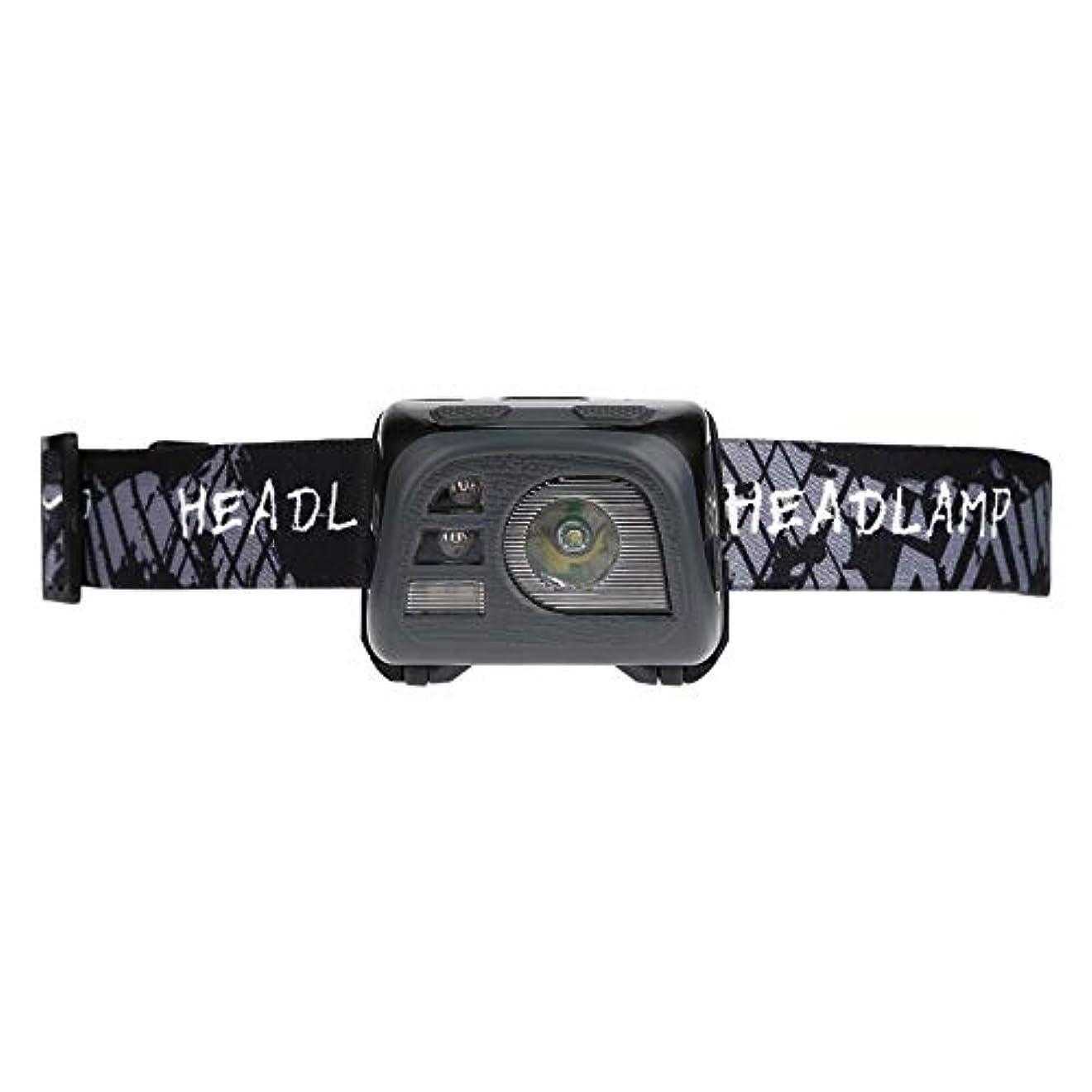流産吸う防衛LED ヘッドライト 5モード調光 センサー 2スイッチ USB充電式 IPX4防水 電量表示機能付き 高輝度LED 作業灯 防災 登山 釣り ランニング 夜釣り キャンプ 対応 実用的 軽量 調整可能 ヘルメットライト ランタン 4色選べ Matefieldjp