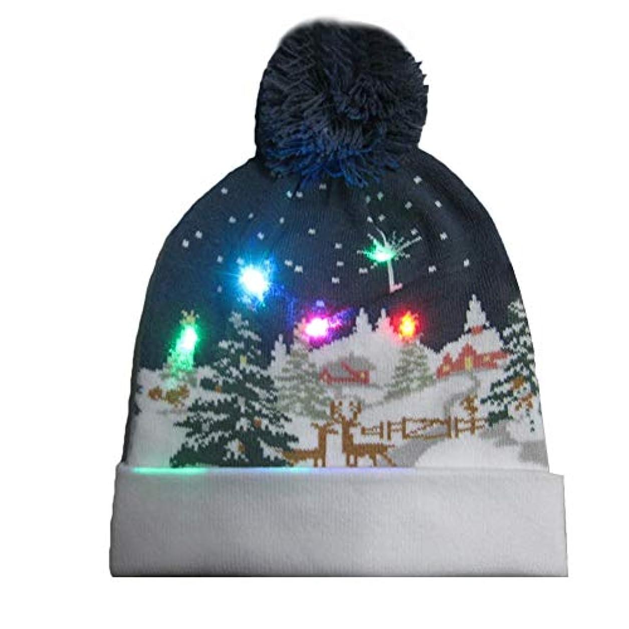 一般的な契約すばらしいですクリスマス帽子 編み帽子 防風防寒 耳保護 暖か ニット帽 コスチューム用 可愛い 寒い対応 子供/女の子