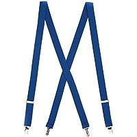 Suspender Store Mens Solid Color Suspenders - 1-Inch Wide CLIP (X-Back)