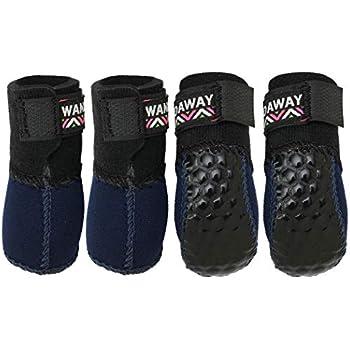 [WANDAWAY × docdog] 小型犬用靴 Fuka Fuka Fit Dog boots (ふかふかフィットドッグブーツ) 4個入り ネイビー