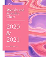 Weekly and Monthly Chart 2020 & 2021: Jan 1, 2020 to Dec 31, 2021:Weekly & Monthly Planner . 24 Month Calendar
