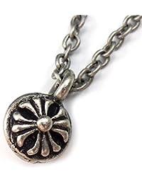 [ソリッド]solid プチペンダント メンズネックレス ブラックカラー クロス 十字架 フレア メンズ ネックレス[solid