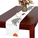 GGSXD テーブルランナー 小柄 ハリネズミ クロス 食卓カバー 麻綿製 欧米 おしゃれ 16 Inch X 72 Inch (40cm X 182cm) キッチン ダイニング ホーム デコレーション モダン リビング 洗える