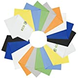 CamKix 18 Microfiber Cleaning Cloths - for Cell Phones, Laptops, Tablets, Glasses, Spectacles, Silverware, and Delicate Surfa
