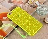 「ELEEJE」 ぷくぷくハート iPhone ケース タトゥーシール セット iPhone6/6s 6Plus/6sPlus (黄色, 6/6s)