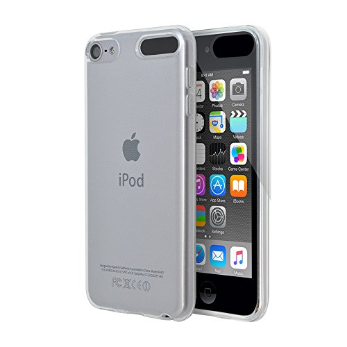 OVER's iPod touch 6 ケース / アイポッド タッチ6 カバー 0.8mm TPU 4点セット ( iPod touch カバー *1 & 液晶保護フィルム*1 & ミニクロス*1 & 埃取りセット*1 ) 365日保証付き