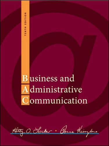 Download Business and Administrative Communication 0073403180