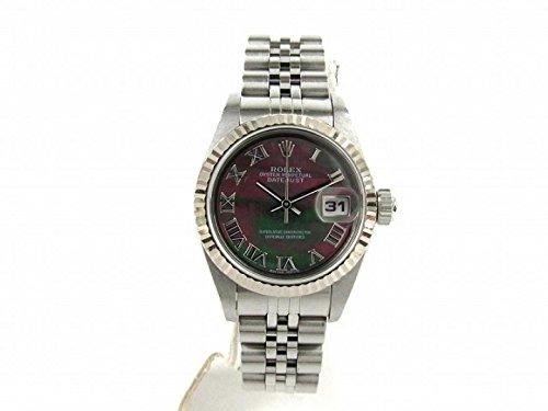 [ロレックス] ROLEX デイトジャスト 腕時計 ウォッチ ブラック K18WG(750)ホワイトゴールド x ステンレススチール(SS) 79174NR Y番 [中古]