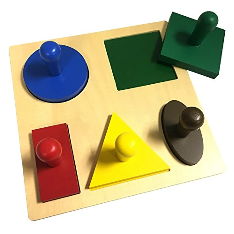 Montessori GeometricパズルBoard