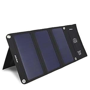 ソーラーチャージャー SNAN ソーラーパネル 21W 折り畳み式 防塵防水 防災 非常用 アウトドア用 ソーラー充電器 iPhone7/iPhone7plus/iPhone6s/iPad/Androidスマートフォン タブレット モバイルバッテリーなど各種他対応