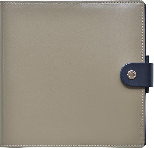 クオバディス 手帳 本革 カバー DUO デュオ 16x16cm グリ&ブルーニュイ qv16x1619gb