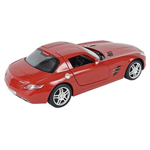 ラスター 1/14 スケール RCカー RASTAR メルセデスベンツ SLS AMG 赤 ドア開閉 国華園