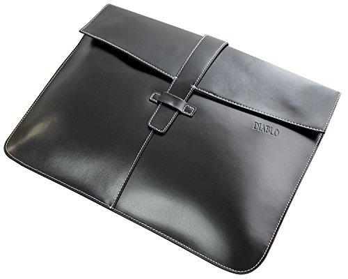 [ディアブロ] DIABLO クラッチバッグ メンズ 馬革 高級 バイカラ— 3WAYバッグ 【KA-2502】 (ブラック×ホワイト)