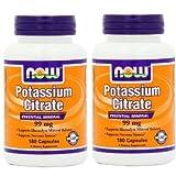 【2個セット】 [海外直送品] NOW Foods クエン酸カリウム 99mg 180粒 Potassium Citrate 99mg 180capsules
