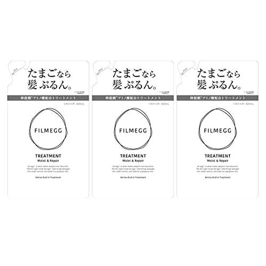 収益言い直す野望【3個セット】FILMEGG(フィルメッグ) トリートメント 詰替え 400ml