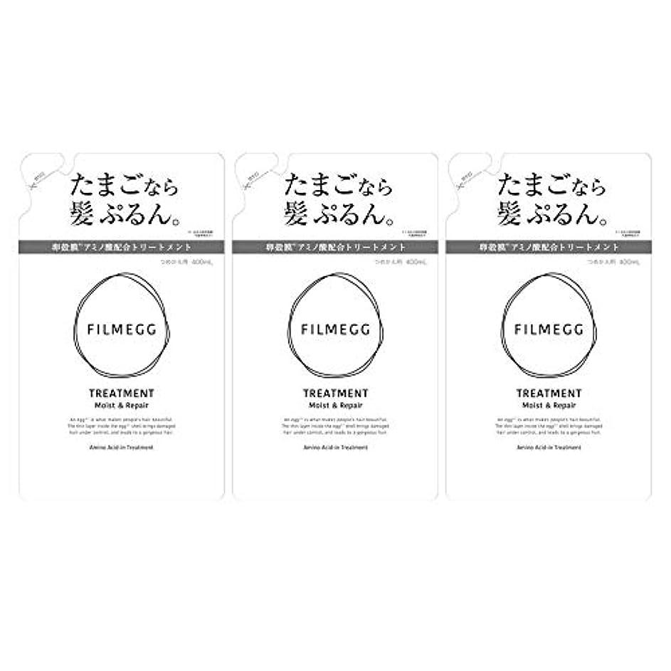 内なる化合物利益【3個セット】FILMEGG(フィルメッグ) トリートメント 詰替え 400ml