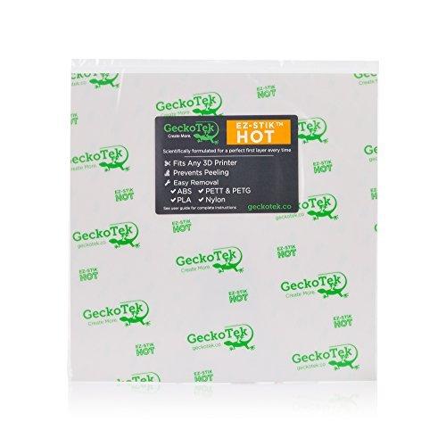 GeckoTek EZHT300x300 EZ-Stik Hot 3D Printer Build Surface White [並行輸入品]
